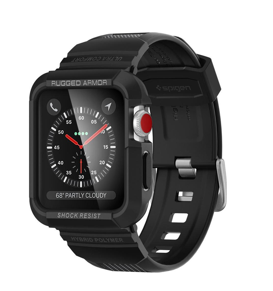 Θήκη Spigen Tough Armor Pro για Apple Watch Series 3/2/1 (42mm) Black 059CS22408