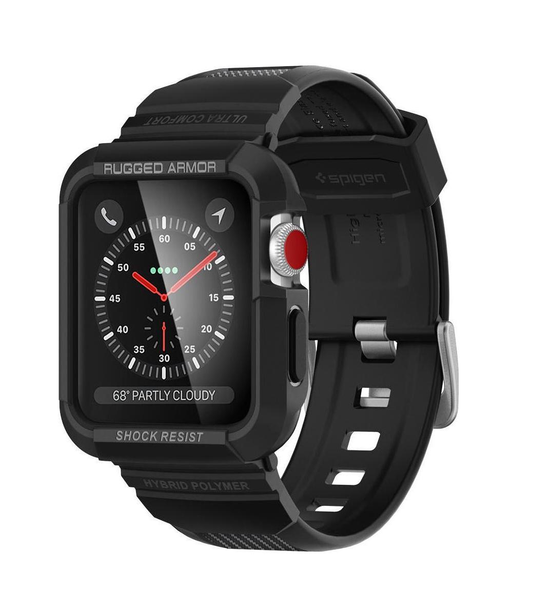 Θήκη Spigen Tough Armor Pro για Apple Watch Series 3/2/1 (38mm) Black  058CS22407
