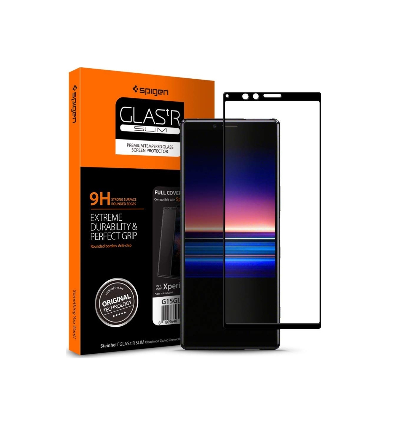 Spigen Full Face Tempered Glass για Sony Xperia 1 Black G15GL26324