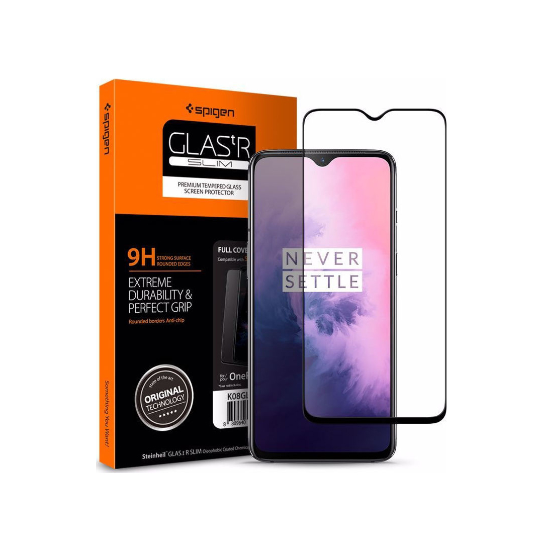 Spigen GLAS.tR Curved HD Tempered Glass για OnePlus 7 Black K08GL26387