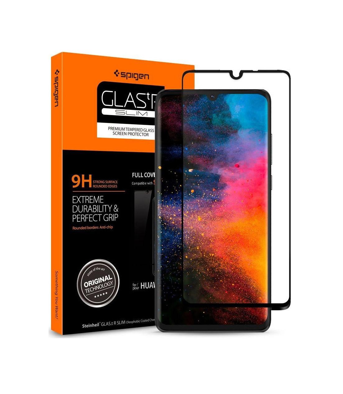 Spigen GLAS.tR Full Face Tempered Glass για Huawei P30 Black L38GL26018