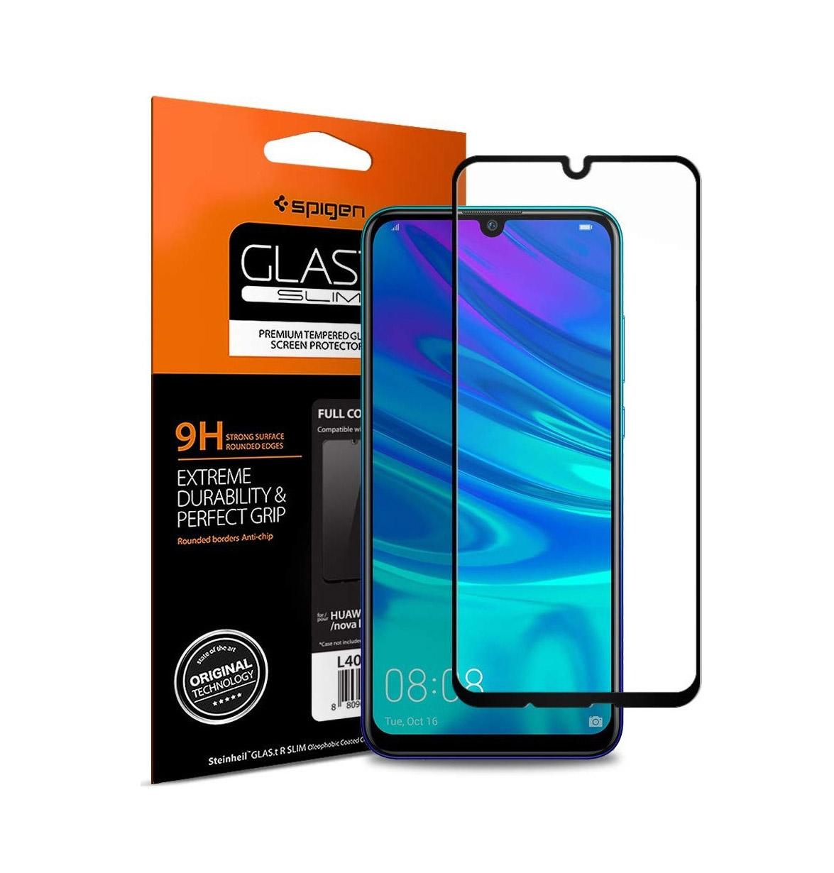 Spigen GLAS.tR Full Face Tempered Glass για Huawei P Smart Black L40GL26096
