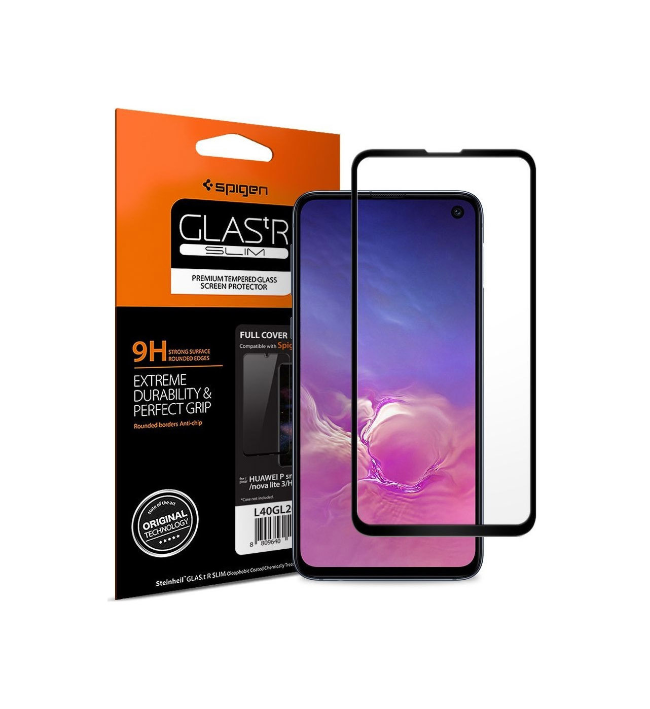 Spigen GLAS.tR Full Face Tempered Glass για Samsung Galaxy S10E Black 609GL26003
