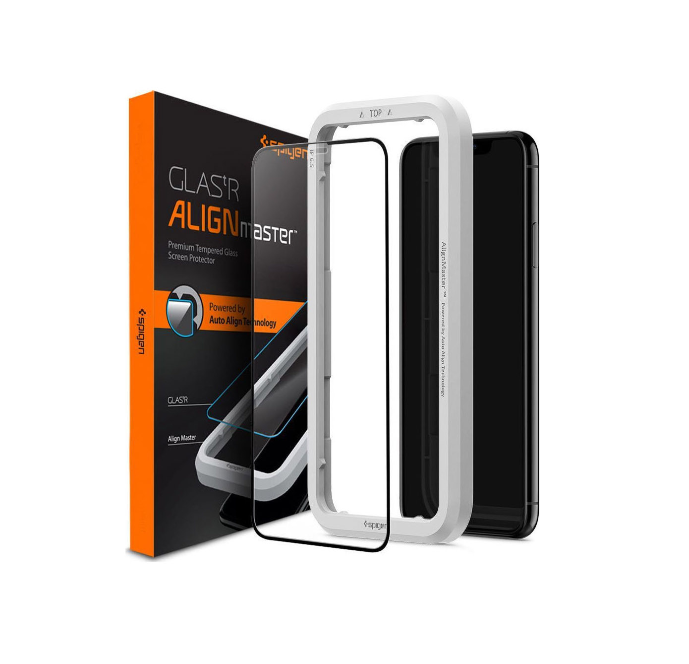 Spigen AlignMaster Full Face Tempered Glass για iPhone 11 Black AGL00106