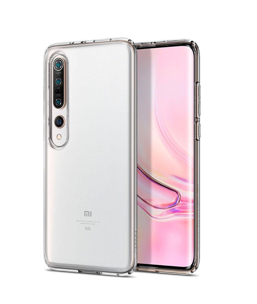 Θήκη Spigen Liquid Crystal για Xiaomi Mi 10/Mi 10 Pro Crystal Clear ACS00863