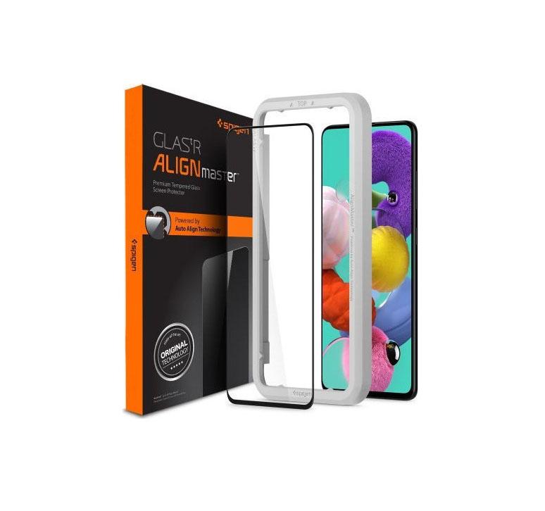Spigen AlignMaster Full Face Tempered Glass για Samsung Galaxy A51 Black AGL01051