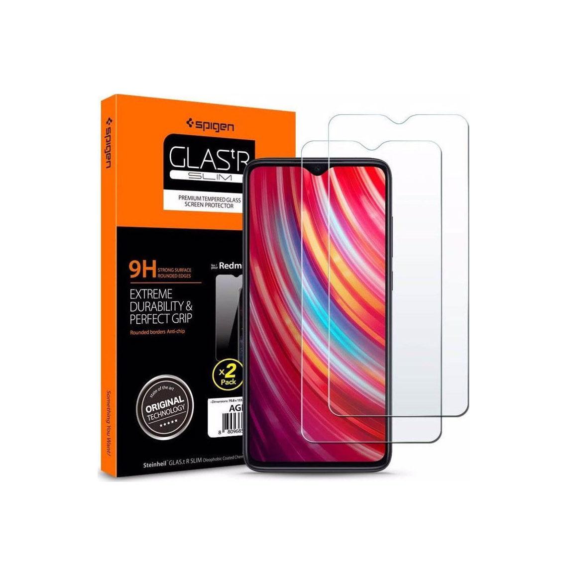 Spigen GLAS.tR Slim Tempered Glass για Xiaomi Redmi Note 8 Pro 2-Pack  AGL00390