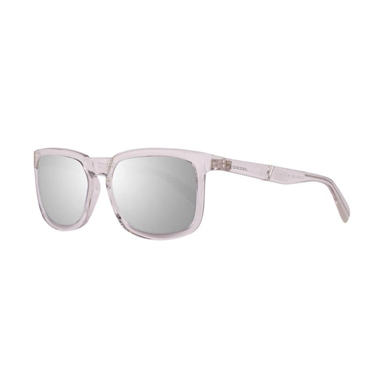 Γυναικεία Γυαλιά Ηλίου με Πλαστικό Σκελετό και Φακούς Καθρέπτη Χρώματος Ασημί Diesel DL026226C56 - DL026226C56