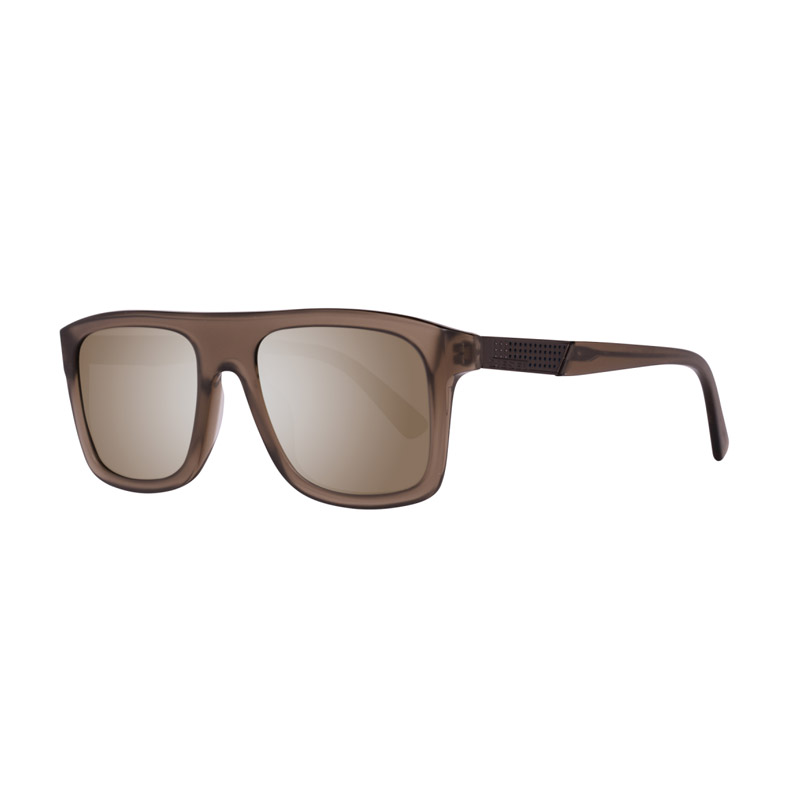 Unisex Γυαλιά Ηλίου με Πλαστικό Σκελετό και Φακούς Καθρέπτη Χρώματος Καφέ Diesel DL026845C52 - DL026845C52