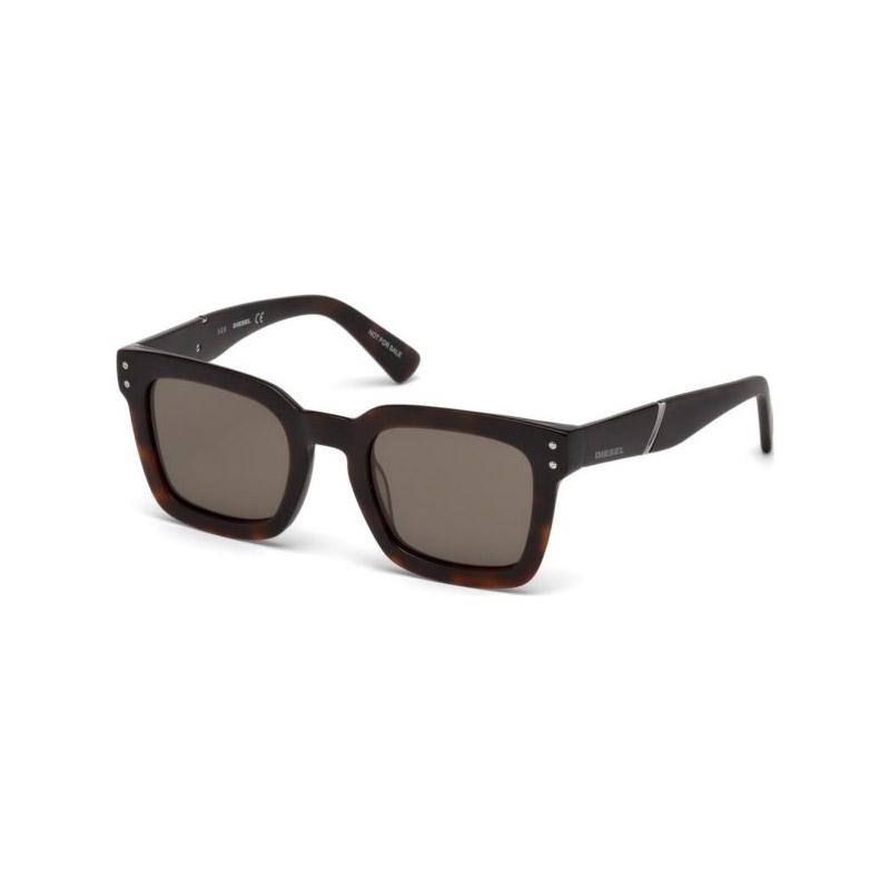 Unisex Γυαλιά Ηλίου με Πλαστικό Σκελετό και Φακούς Χρώματος Καφέ Diesel DL022952J50 - DL022952J50