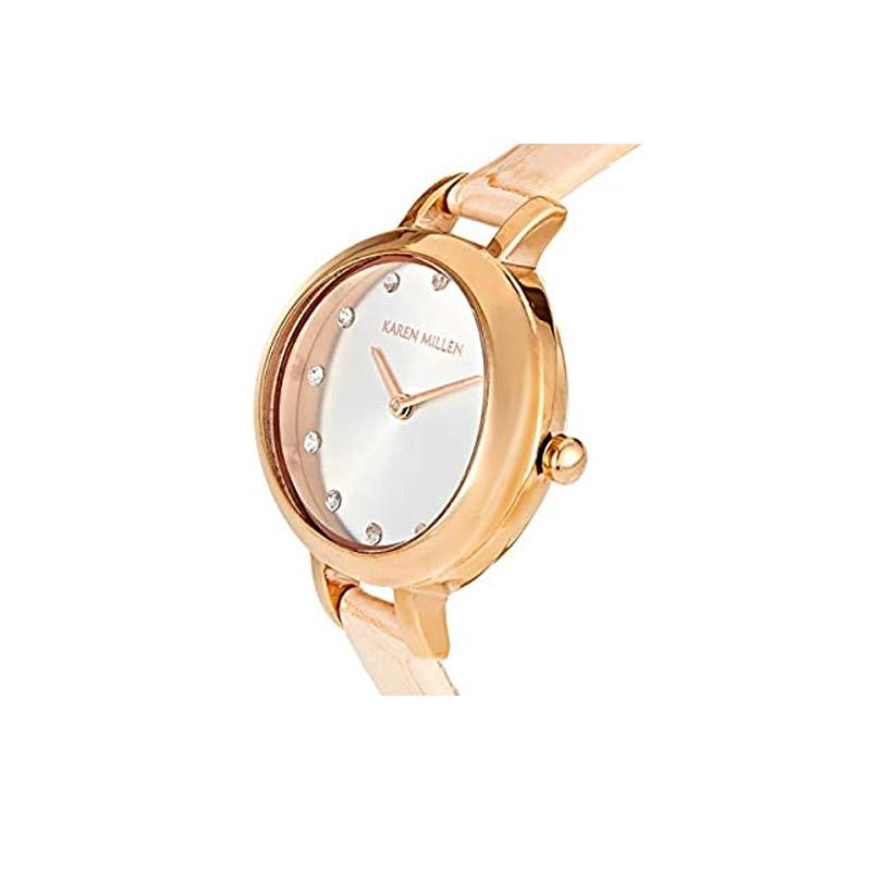 Γυναικείο Ρολόι με Ροζ Δερμάτινο Λουράκι Karen Millen KMA101CRG - KMA101CRG