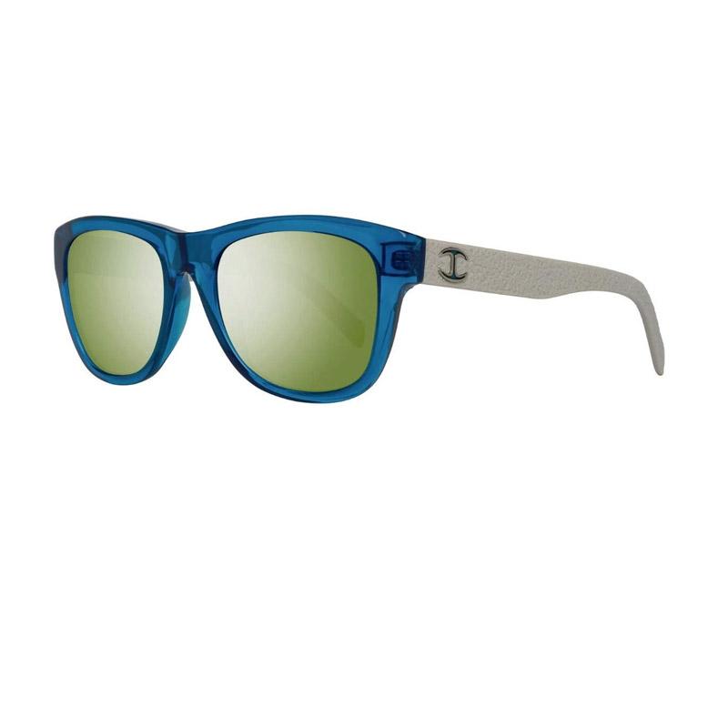 Unisex Γυαλιά Ηλίου με Πλαστικό Σκελετό και Φακούς Καθρέπτη Χρώματος Πράσινο Just Cavalli JC597S90Q54 - JC597S90Q54