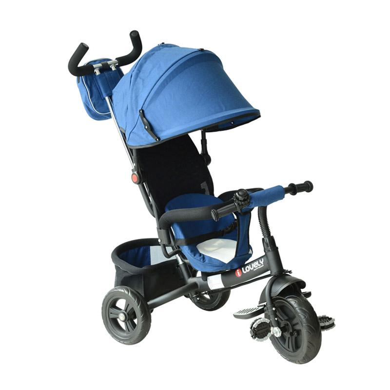 Τρίκυκλο Παιδικό Ποδήλατο - Καρότσι Χρώματος Μπλε HOMCOM 370-027BU - 370-027BU