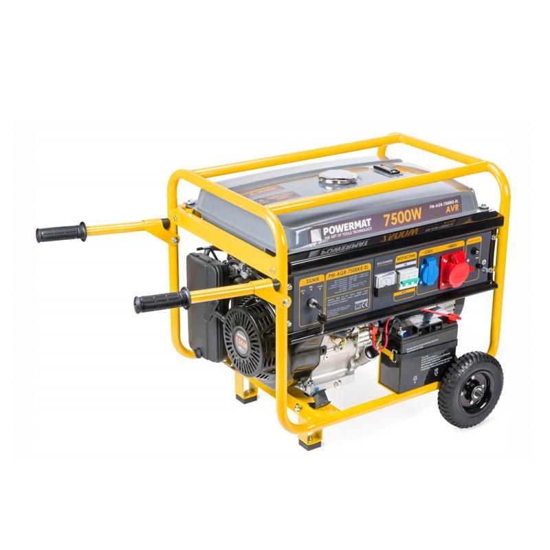 Φορητή Τριφασική Ηλεκτρογεννήτρια Βενζίνης 7500 W POWERMAT PM-AGR-7500KE-EL - PM-AGR-7500KE-EL
