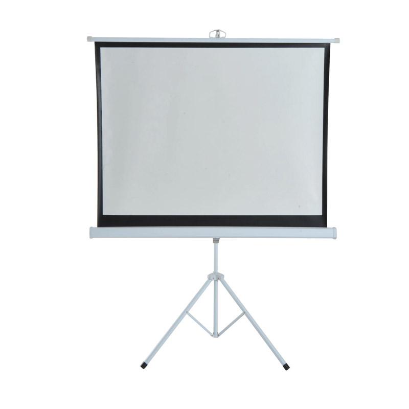 Χειροκίνητη Οθόνη - Πανί Προβολής με Τρίποδο 171 x 128 cm HOMCOM 001-007 - 001-007