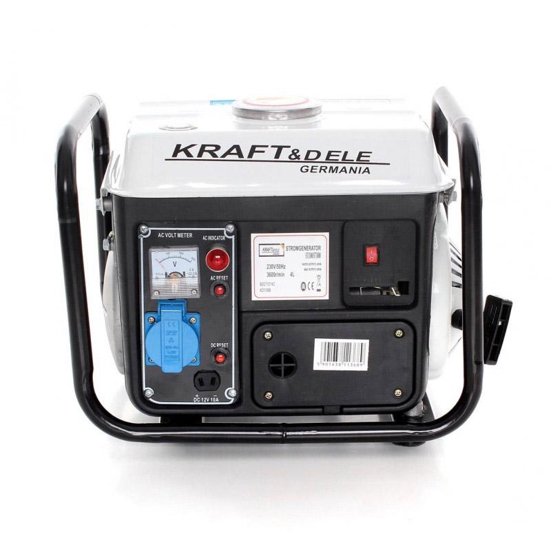 Φορητή Μονοφασική Ηλεκτρογεννήτρια Βενζίνης 1200 W 12/230 V Kraft&Dele KD-109B - KD-109B