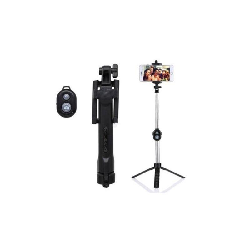 Selfie Stick με Bluetooth και Τηλεχειριστήριο SPM Monopod-Black - Monopod-Black