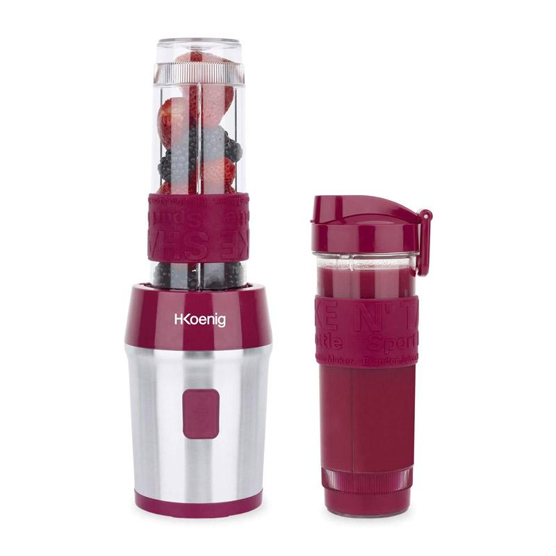 Μπλέντερ με 2 Κανάτες - Ποτήρια Χρώματος Ροζ H.Koenig SMOO10 - SMOO10