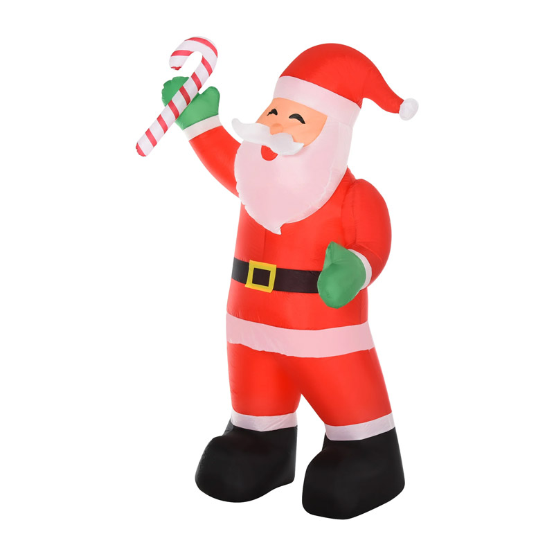 Φουσκωτός Άγιος Βασίλης 243 cm με LED Φωτισμό HOMCOM 844-298 - 844-298