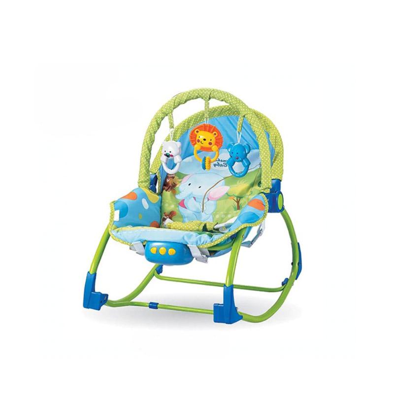 Παιδικό Ρηλάξ - Κούνια 2 σε 1 Χρώματος Μπλε Hoppline HOP1001015-1 - HOP1001015-1