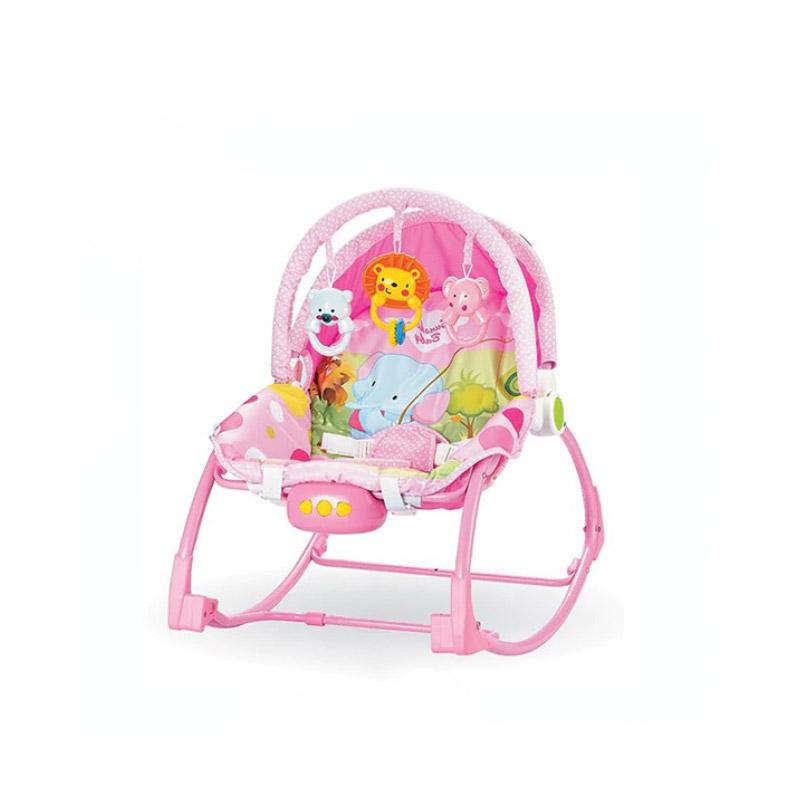Παιδικό Ρηλάξ - Κούνια 2 σε 1 Χρώματος Ροζ Hoppline HOP1001015-2 - HOP1001015-2