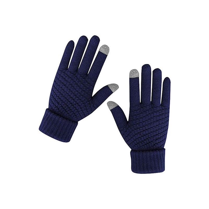 Πλεκτά Γάντια για Οθόνη Αφής Χρώματος Navy SPM DB7169 - DB7169
