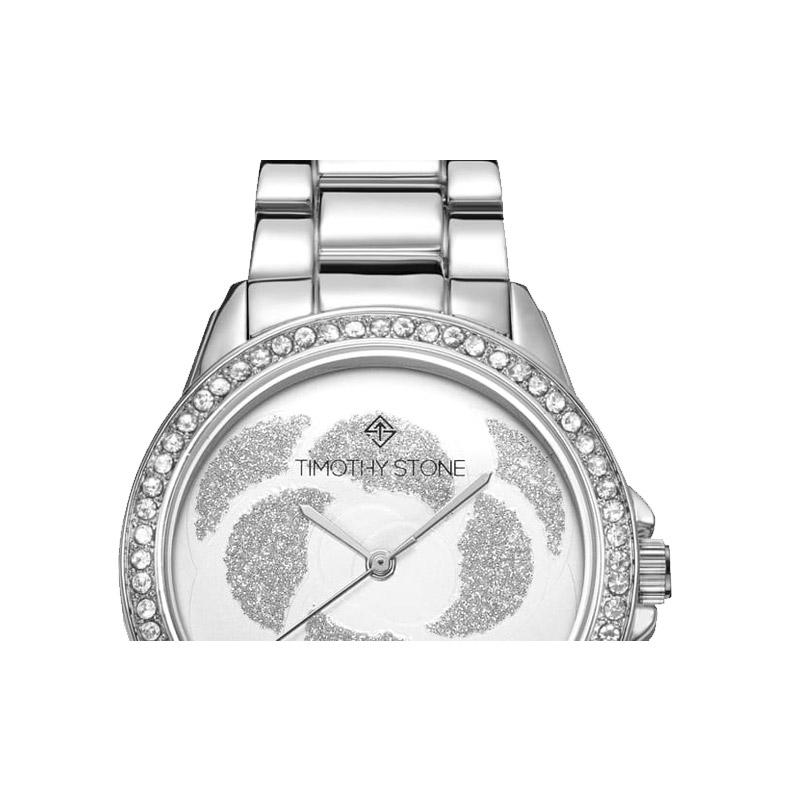 Γυναικείο Ρολόι Χρώματος Γκρι με Μεταλλικό Μπρασελέ και Κρύσταλλα Swarovski® Timothy Stone K-013-ALSL - K-013-ALSL