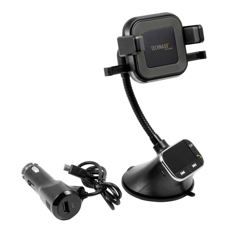 Συσκευή Bluetooth FM Transmitter με Βάση Ασύρματης Φόρτισης Technaxx FMT1200BT - FMT1200BT