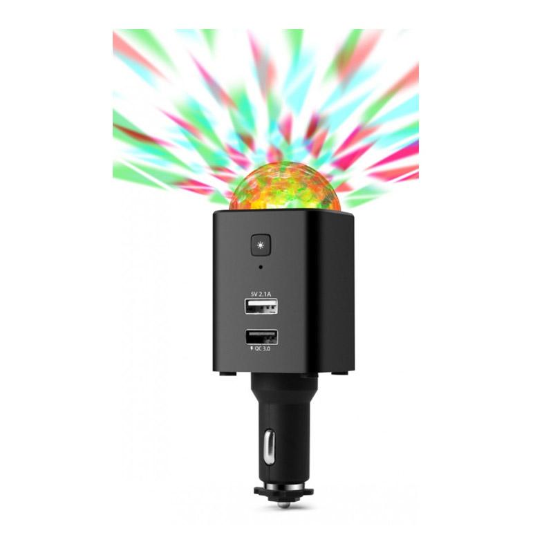 Φορτιστής Αυτοκινήτου USB-C με LED Disco Φωτισμό Technaxx TX-159 - TX-159