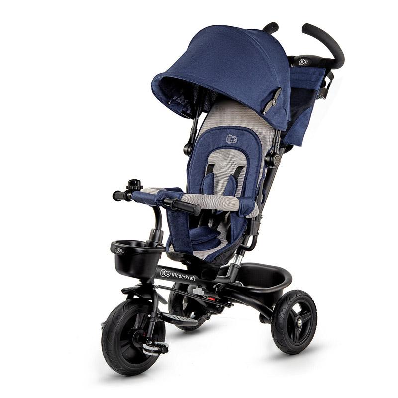 Τρίκυκλο Παιδικό Ποδήλατο - Καρότσι KinderKraft Aveo Χρώματος Μπλε - KKRAVEOBLU0000