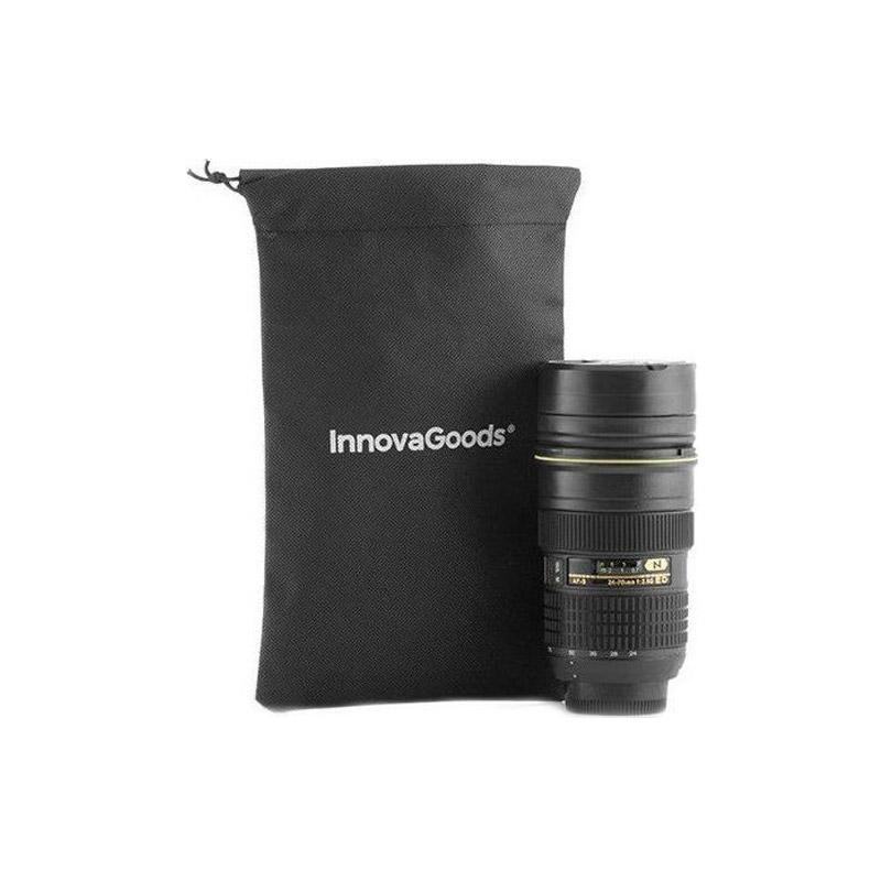 Θερμικό Ποτήρι Φακός Φωτογραφικής Μηχανής με Καπάκι Πολλαπλών Χρήσεων InnovaGoods V0100509 - V0100509