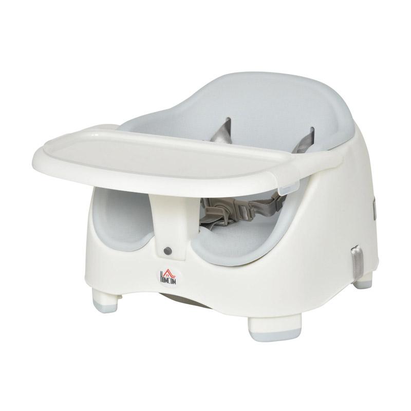 Παιδικό Κάθισμα Φαγητού για Καρέκλα Χρώματος Γκρι HOMCOM 420-011GY - 420-011GY