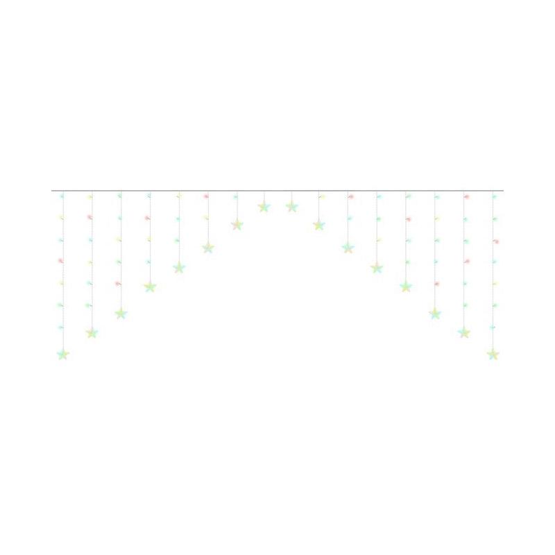 Χριστουγεννιάτικη Κουρτίνα 5.6 m με 136 Πολύχρωμα Λαμπάκια LED 31V SPM 11336 - 11336