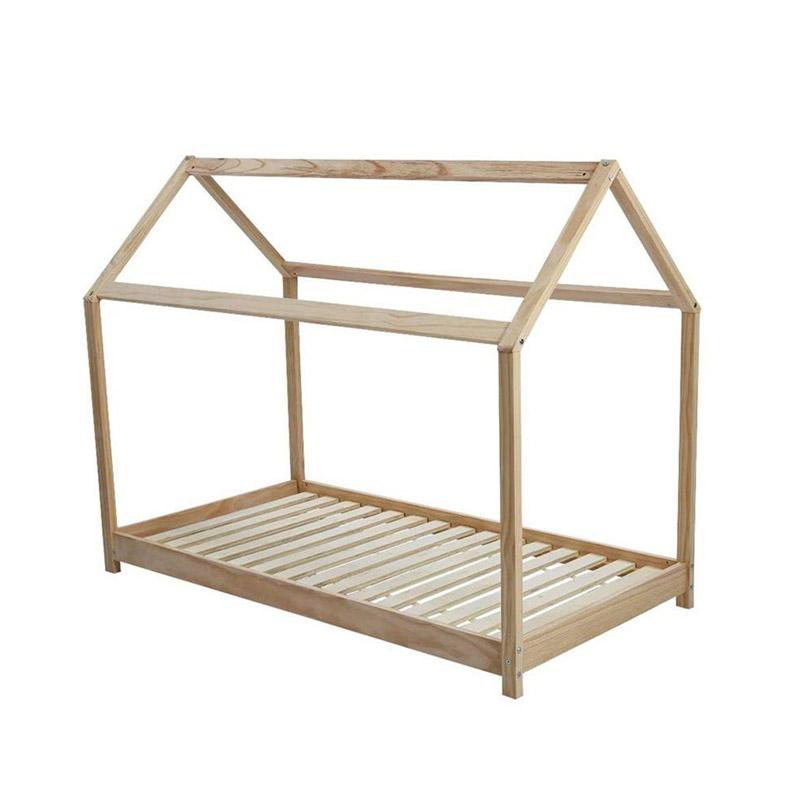 Παιδικό Ξύλινο Κρεβάτι Σπίτι 146 x 74.5 x 140 cm Hoppline HOP1001085 - HOP1001085