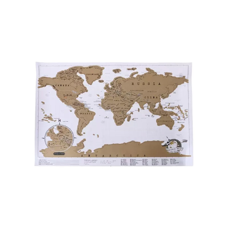 Παγκόσμιος Χάρτης Ξυστό 88 x 52 cm SPM DYN-5059059079784 - DYN-5059059079784