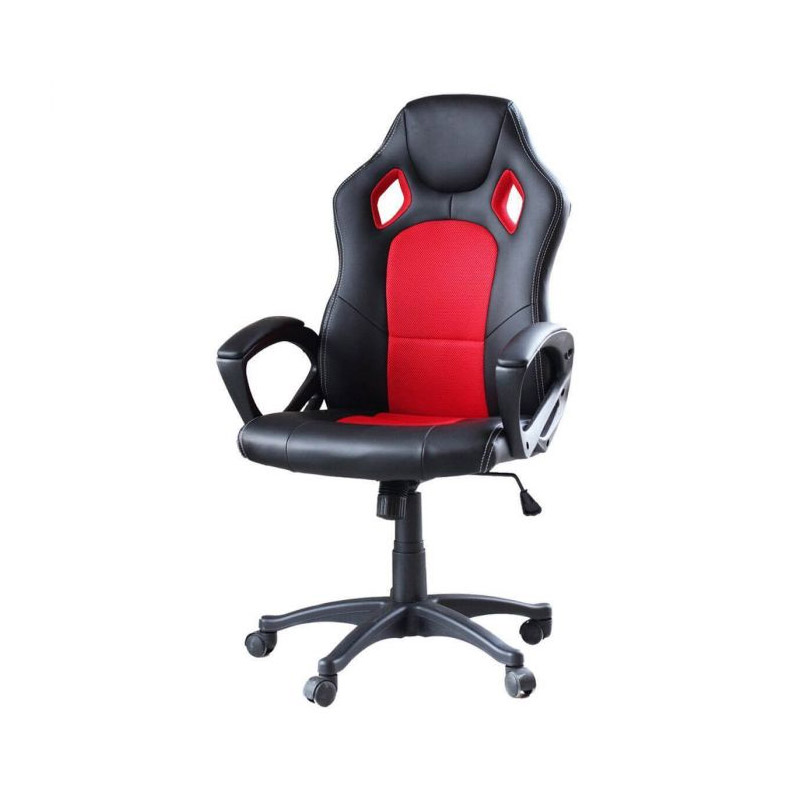 Καρέκλα Gaming Χρώματος Μαύρο - Κόκκινο Hoppline HOP1000870-3 - HOP1000870-3
