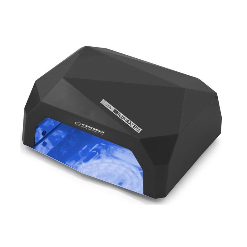 Φουρνάκι Νυχιών με 12 Λάμπες UV LED και CCFL 36 W Χρώματος Μαύρο Esperanza Onyx EBN002K - EBN002K