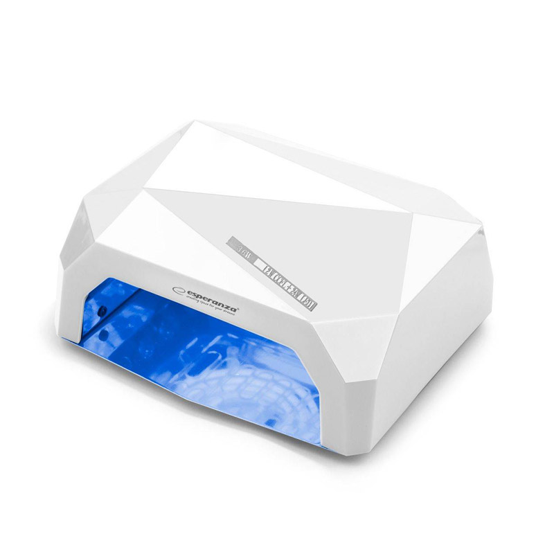 Φουρνάκι Νυχιών με 12 Λάμπες UV LED και CCFL 36 W Χρώματος Λευκό Esperanza Onyx EBN002W - EBN002W