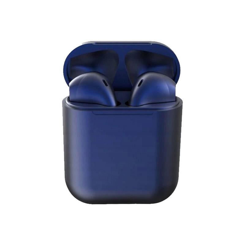 Ασύρματα Ακουστικά Bluetooth με Βάση Φόρτισης i12 TWS Χρώματος Μπλε SPM I12-Dblue