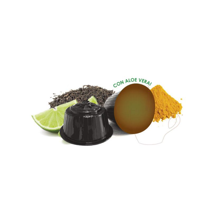 Κάψουλες Μαύρου Τσαγιού με Μοσχολέμονο και Κουρκουμά Neronobile - DG-NER TeaBlLem