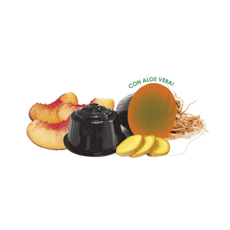 Κάψουλες Τσαγιού με Ροδάκινο και Τζίντζερ Neronobile - DG-NER TeaBlPeach