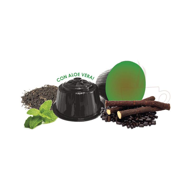 Κάψουλες Πράσινου Τσαγιού με Μέντα και Γλυκόριζα Neronobile - DG-NER TeaGrMatch