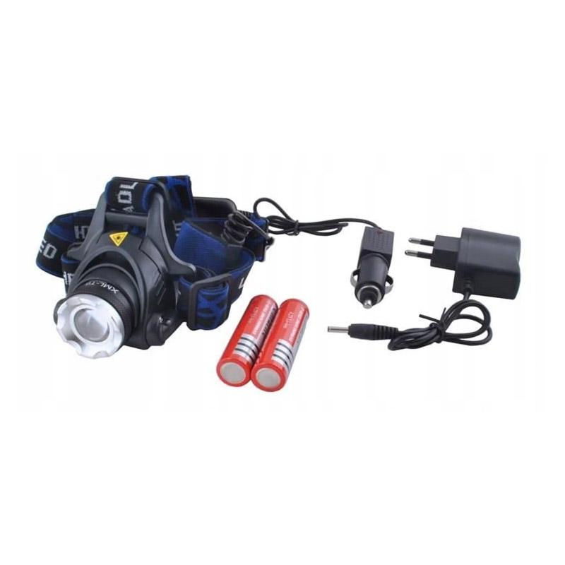 Επαναφορτιζόμενος Φακός Κεφαλής 800 lm LED CREE T6 Bass Polska BP-3923 - BP-3923