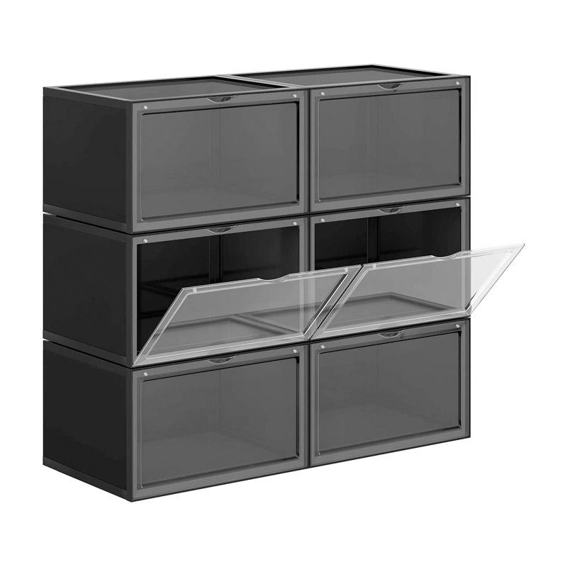 Stand Αποθήκευσης 6 Ζευγαριών Παπουτσιών 36 x 28 x 22 cm Χρώματος Μαύρο Songmics LSP06CB - LSP06CB