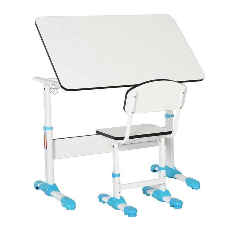 Σετ Παιδικό Γραφείο με Ρυθμιζόμενο Ύψος και Κλίση με Καρέκλα 100 x 59 x 54.5 - 76.5 cm HOMCOM 836-203