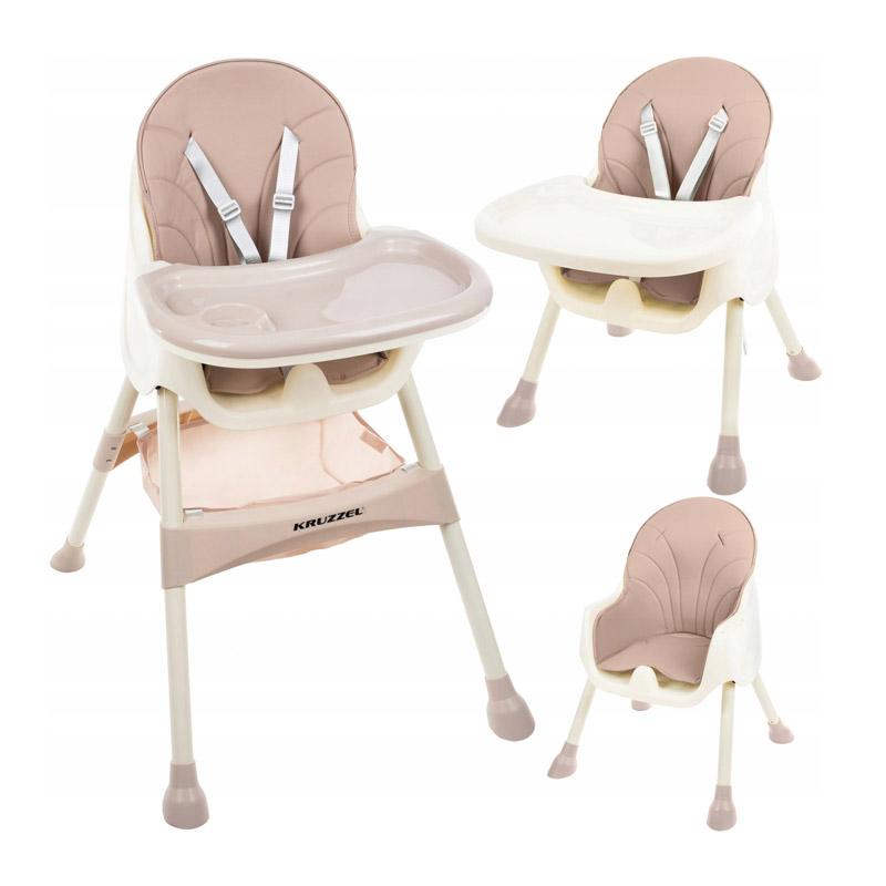 Παιδικό Κάθισμα Φαγητού 3 σε 1 Χρώματος Ροζ Kruzzel 12058 - 12058