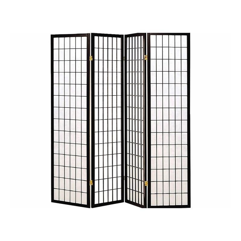 Ξύλινο Διαχωριστικό Χώρου με 4 Πάνελ Hoppline HOP1001019-2 - HOP1001019-2