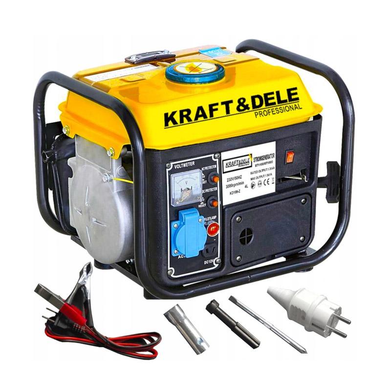 Φορητή Μονοφασική Ηλεκτρογεννήτρια Βενζίνης 1500 W 230 V Kraft&Dele KD-109Z - KD-109Z