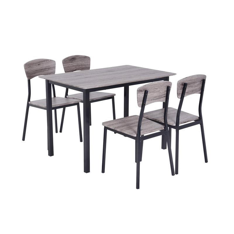 Σετ Μεταλλικό Ορθογώνιο Τραπέζι 110 x 70 x 75 cm με 4 Καρέκλες HOMCOM 835-084GY - 835-084GY