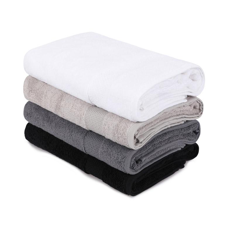 Σετ με 4 Πετσέτες Μπάνιου 70 x 140 cm Χρώματος Μαύρο - Λευκό - Γκρι - Καφέ Beverly Hills Polo Club 355BHP2611 - 355BHP2611